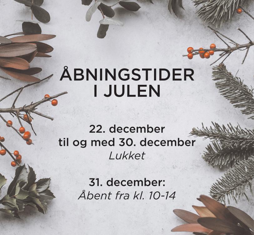 Åbningstider i julen 2018